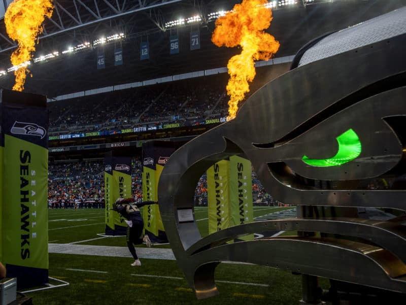 Shaquil Griffin runs out at CenturyLink Field