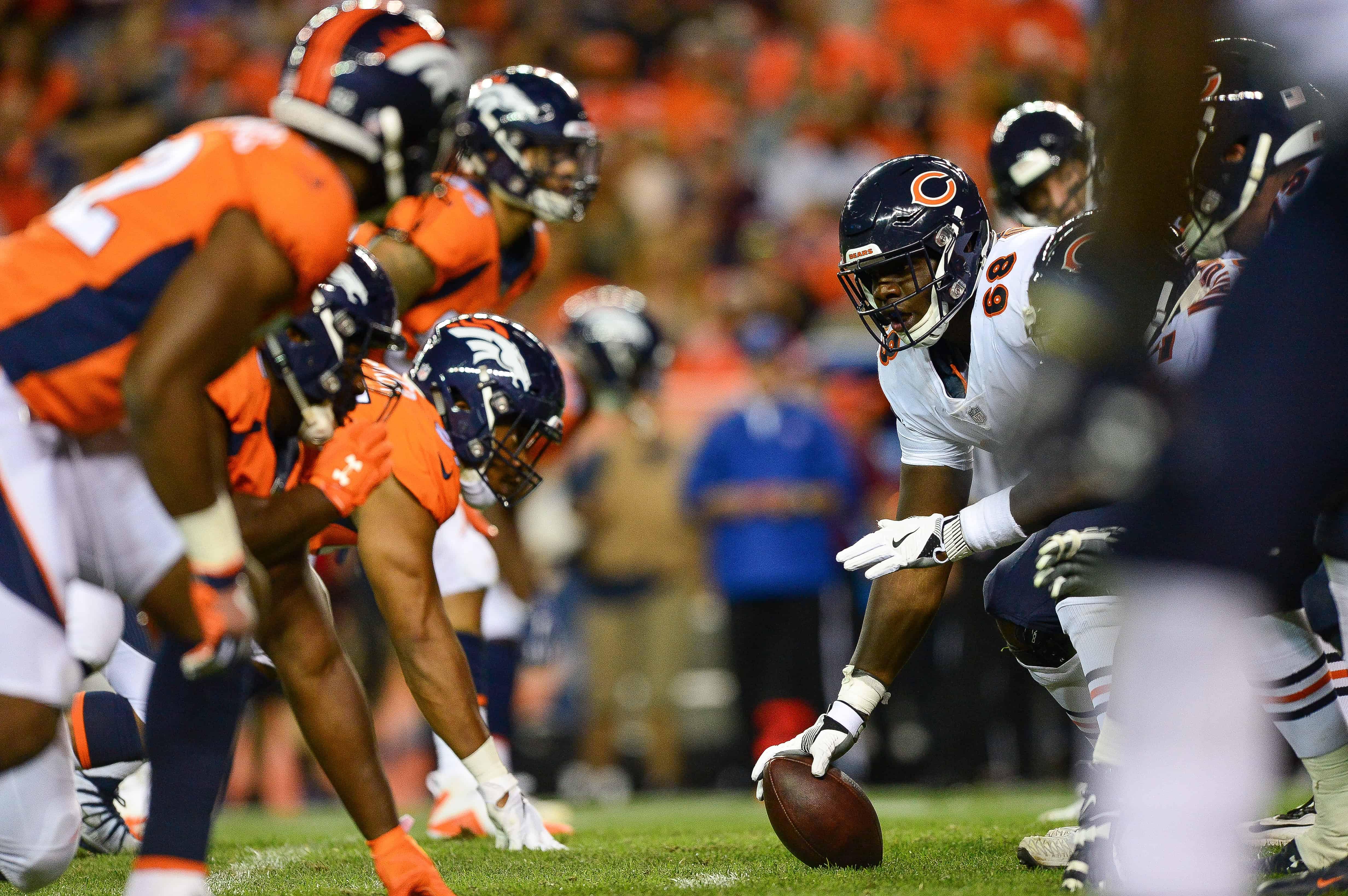 Bears OL vs Broncos DL