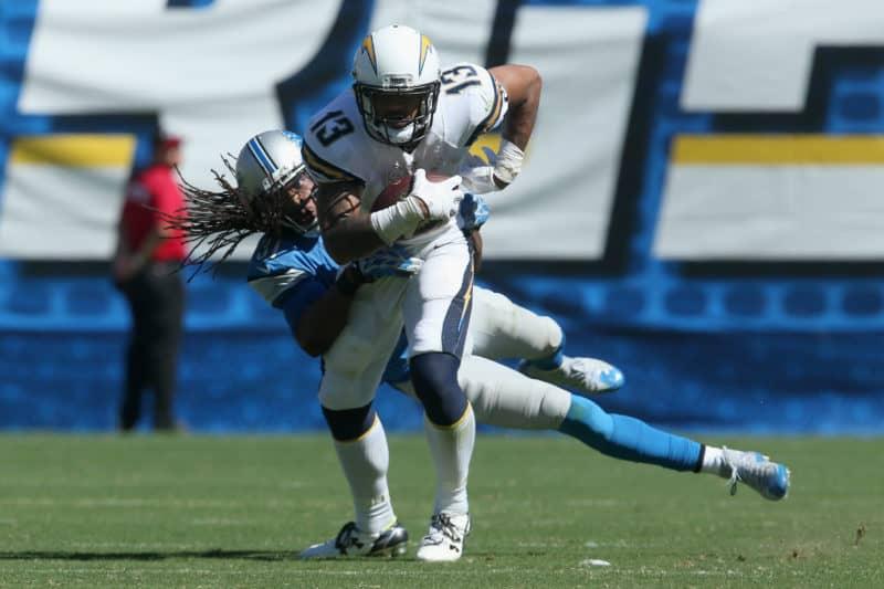 Keenan Allen breaks tackle vs Lions