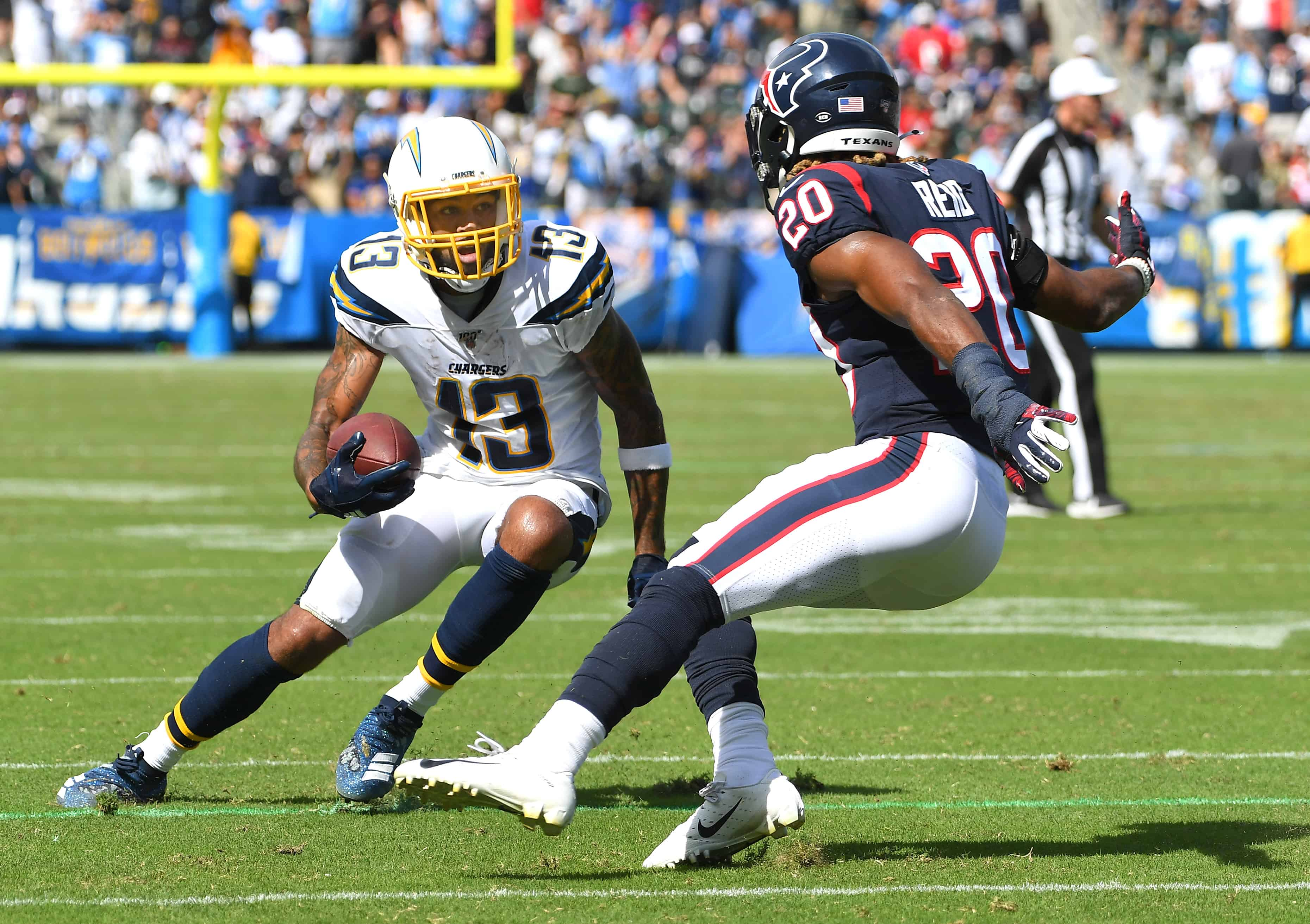 Keenan Allen sets up broken tackle because he's really good
