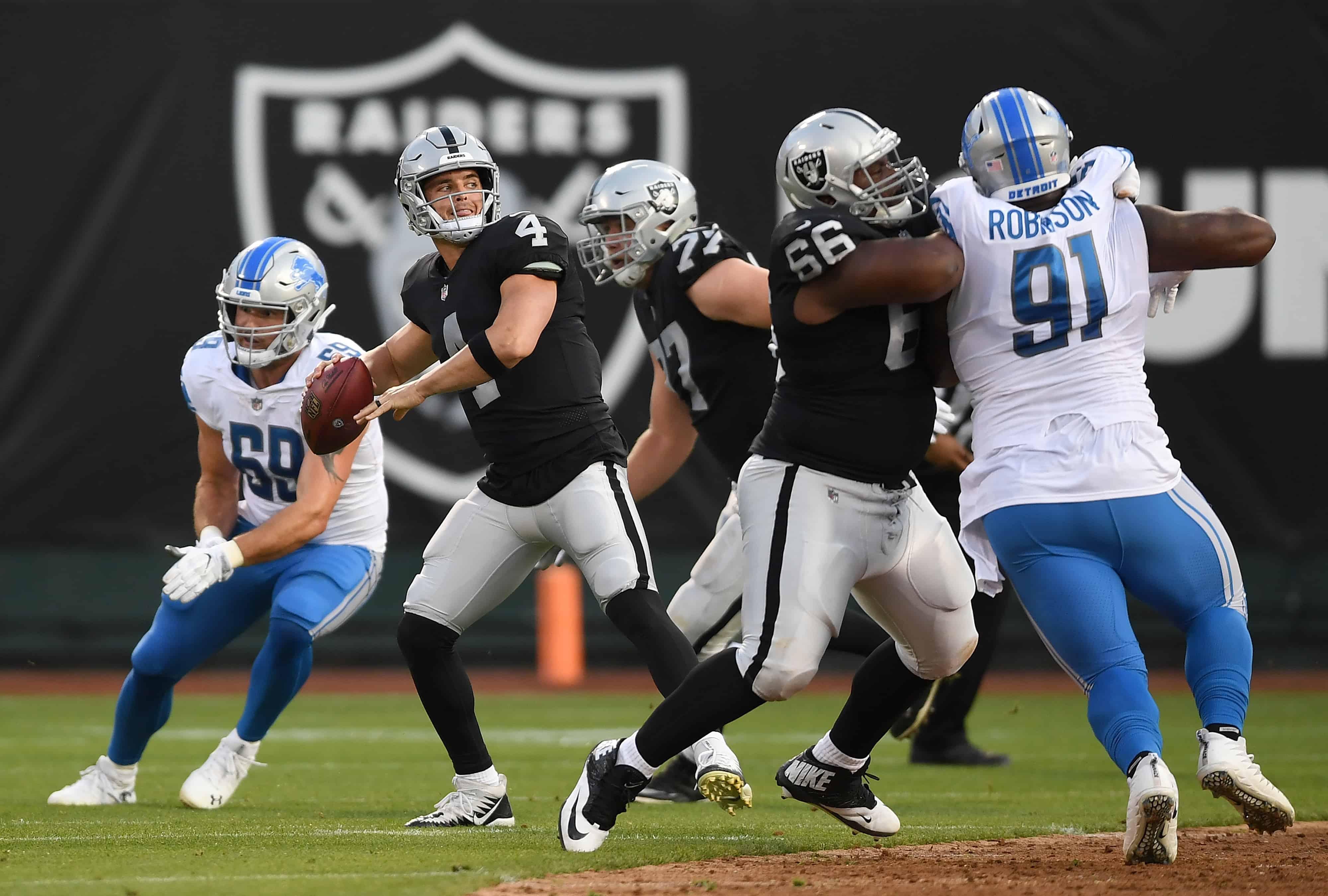 Lions Vs Raiders Fantasy Football Worksheet, Week 9