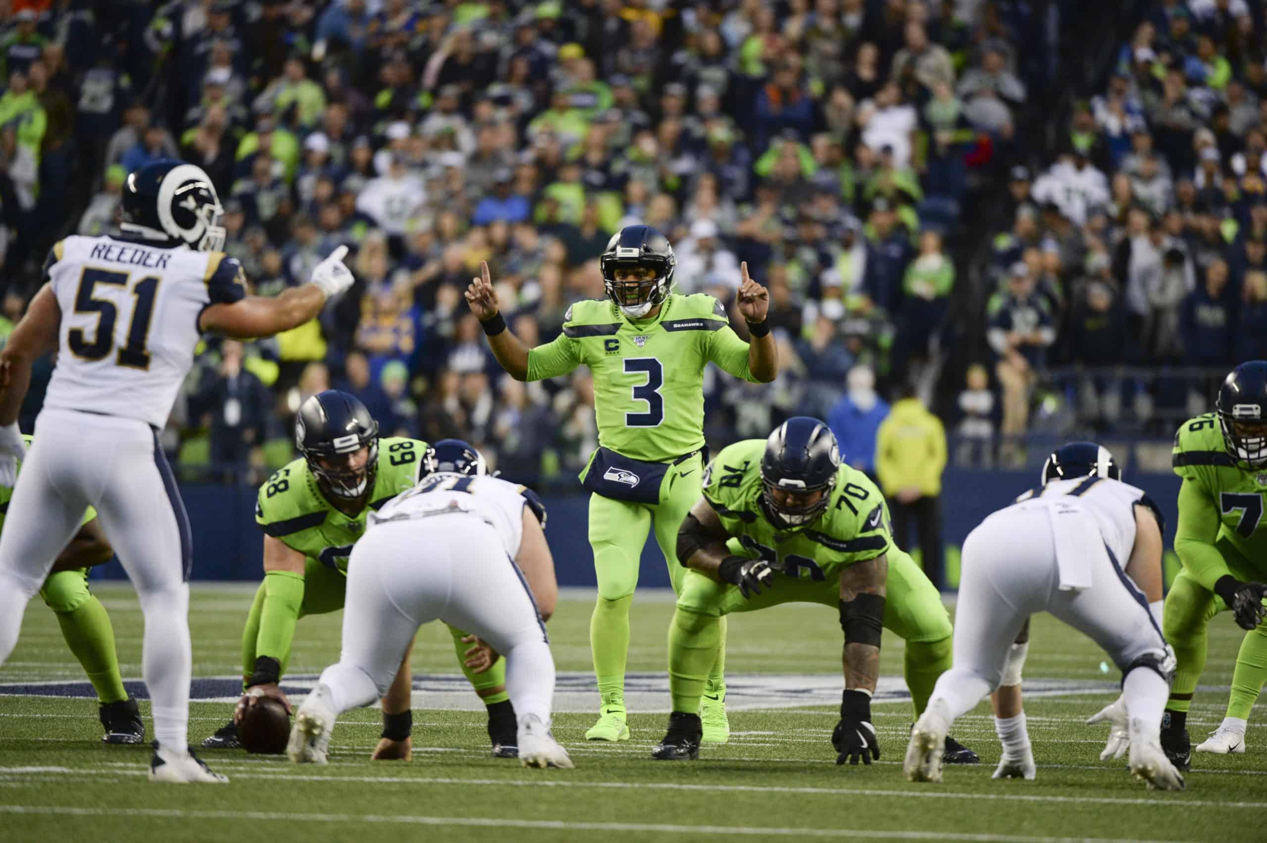 Wilson y sus Seahawks, uno de los problemas de los Rams en su division / sharpfootballanalisys.com